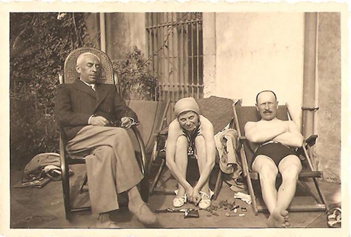 Władysław Zambrzycki i Julian Babiński we Włoszech w 1939 roku