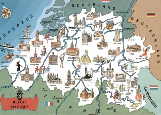 Bajkowo-pocztówkowe Królestwo Belgii